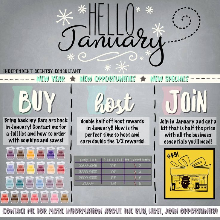 Buy | Host | Join who is ready to say HELLO to January?! https://darmedcalf.scentsy.us/join  #buy #party #shoponline #home #decor #fragrance