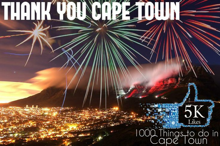 For Cape Town, By Cape Town - Celebrating the wonderful Mother City.  Thank you to all for making it possible to come together and reflect on the beauty Cape Town, Western Cape has to offer with 1000 Things To Do In Cape Town. Hey #CPT....You guys#Rock!!!!!!  I <3 Cape Town  U <3 Cape Town  WE <3 Cape Town