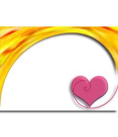 Marco para fotos con un corazón. Felicita este San Valentín con un montaje fotográfico online gratuito, que puedes guardar o enviar por correo electrónico. http://www.fotoefectos.com