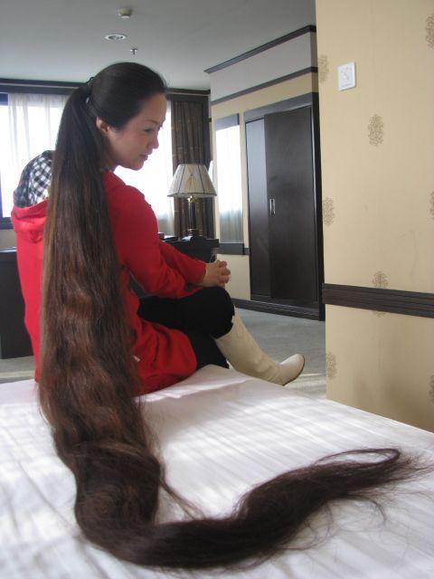 meget langt hår indian Struer