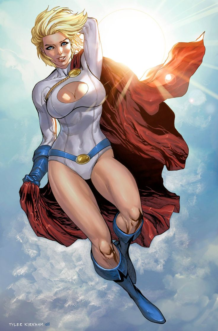 Power Girl by Tyler Kirkham, colours by Arif Prianto *