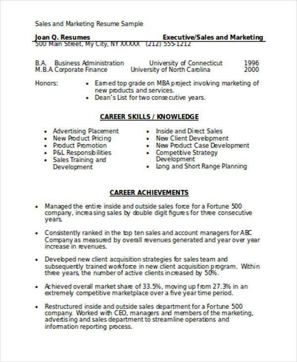 Resume Format Marketing Resume Format Marketing Resume Sales
