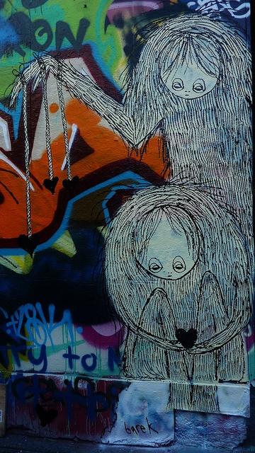 #barek #streetart  black hearts by *Barek*, via Flickr