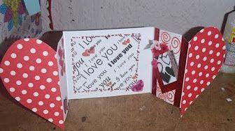 Manualidad dia de la madre: Pocket Stand-up Album // Regalo Día del amor y la amistad - 14 Febrero - YouTube