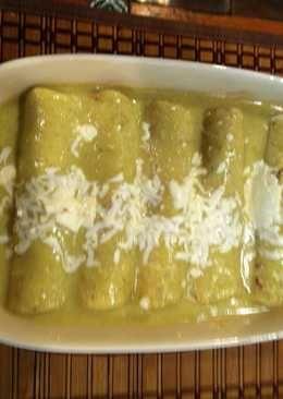 Enchiladas verdes como en Guadalajara