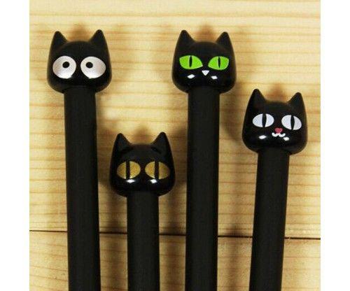 Cicás tűfilc toll fekete színben, vicces íróeszköz iskolába, irodába