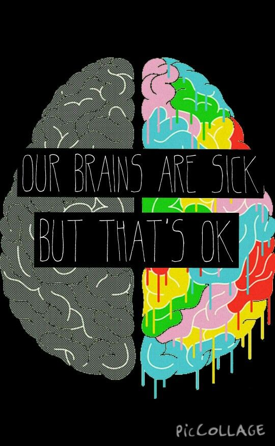Fake You Out - Twenty One Pilots. This picture is awesome because the left brain deals with linear stuff and right brain is creative stuff. This IS a picture of my brain
