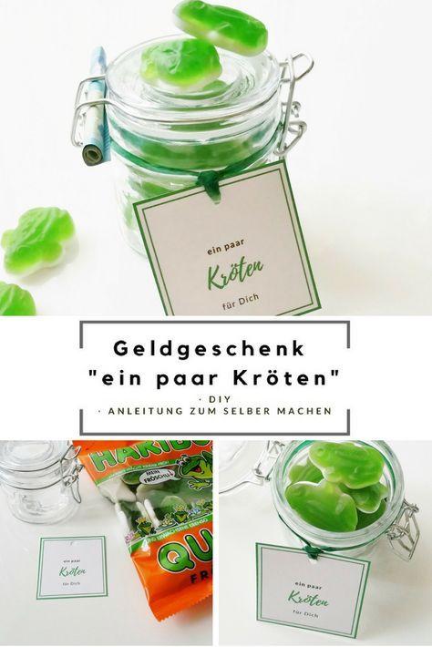 Geldgeschenk Im Glas Kroten Free Printable Diy Alles Gute Zum
