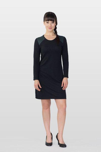 Long Sleeve Raglan Tee Dress by ReCreate   Organic Designer Ethical