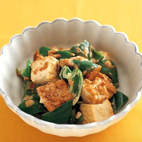 厚揚げとピーマンのにんにくみそあえ | 重信初江さんのおつまみの料理レシピ | プロの簡単料理レシピはレタスクラブネット