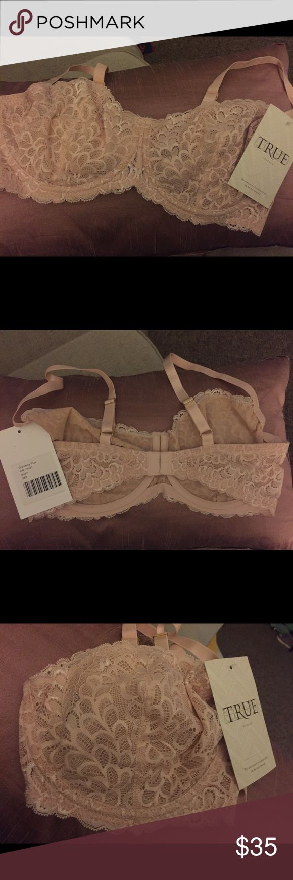 True & Co NWT Balconette Bra! Brand new with tags! Gramercy Balconette bra from True & Co. This bra is beautiful and features an unlined look with supportive underwire. Size 38 D. Color is a stunning blush. true & co Intimates & Sleepwear Bras