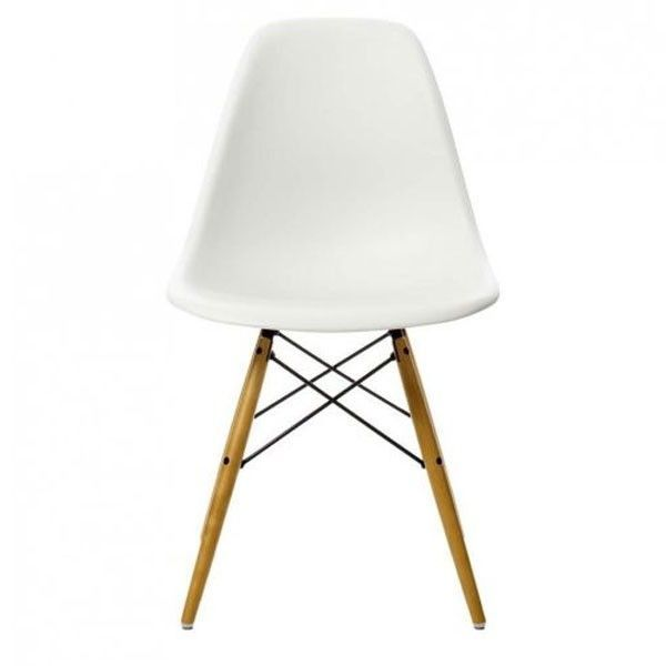 Eames DSW Stuhl mit Gelblichem  Ahornuntergestell (neue Maße) | Vitra