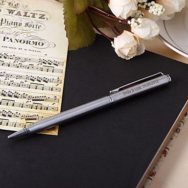 Personalized Blue Ink Ball Pen For Wedding Gifts – USD $ 4.99