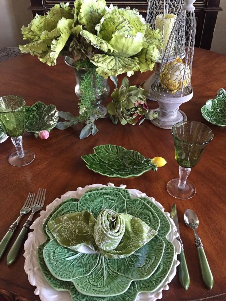 Irish GreensTablescape and Rose with Leaves Napkin Tutorial & 498 best Saint Patrick\u0027s Day Decor and Tablescapes images on ...