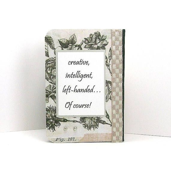 Floral note book Lefty notebook left handed Opens on left