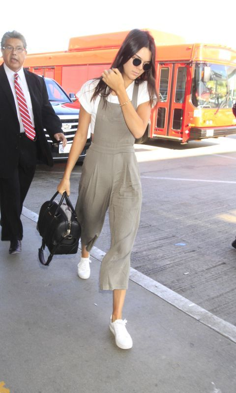 It's no secret that Jenner has become the golden child of celebrity street style, so the fact that these silky, wide leg overalls are by Forever 21 and only $28 makes 'em a sure-thing purchase.