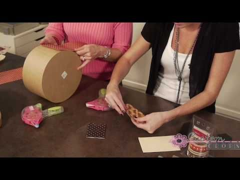 Cover those hat boxes with Graphic 45 paper! Tutorial from Youtube tells your how! #graphic45 #hatbox #storage