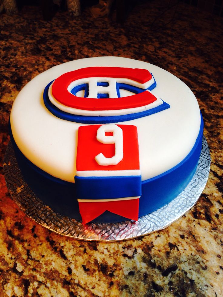Montreal Canadiens birthday cake.