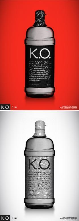 K.O. Gin: Bottle Design PD