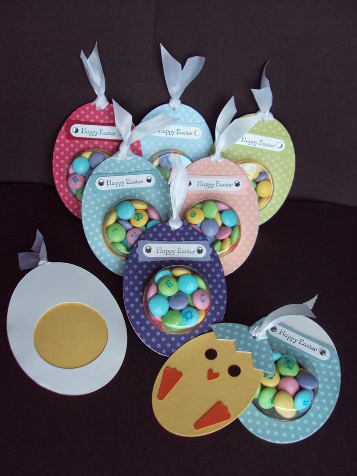 handmade Easter treat cards from Paper Ecstasy ... she explains how-to's on her blog .. little chick card pulls out of the treat cup ... great eye for cut details!! ... luv them!! ... Stampin'Up!