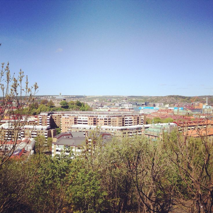 View over Gothenburg from the Landala water tower.