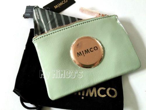 MIMCO-PISTACHIO-ROSE-GOLD-MIM-POUCH-BNWT