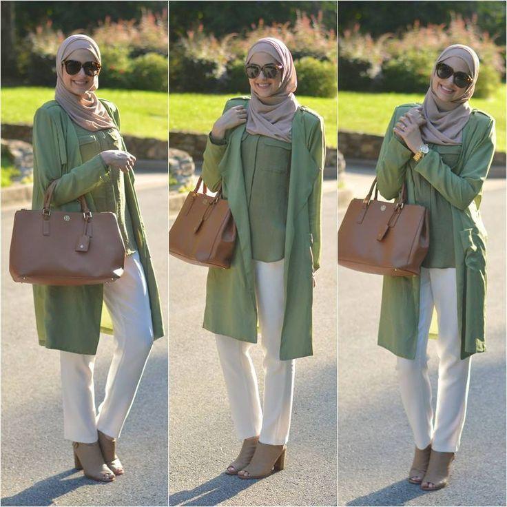 green summer jacket hijab style-Winter hijab street styles by leena Asaad http://www.justtrendygirls.com/winter-hijab-street-styles-by-leena-asaad/