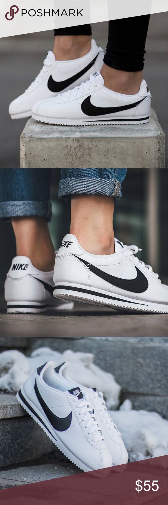 Nike Cortez Black/White • Brand new in box  • Size 4.5y/6 women's   • No trades Nike Shoes Sneakers