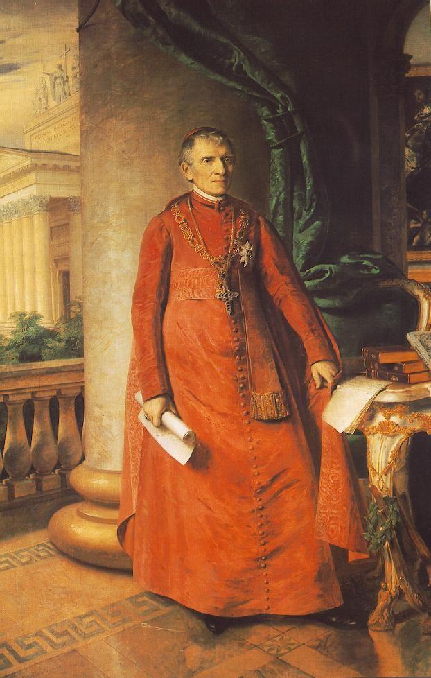 Portrait of János László Pyrker, Bishop of Eger  by Miklós Barabás