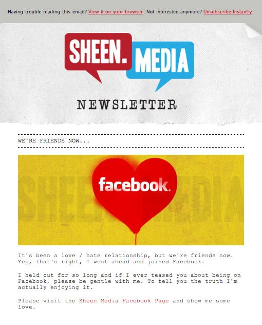 Sheen Media - Campaign Monitor