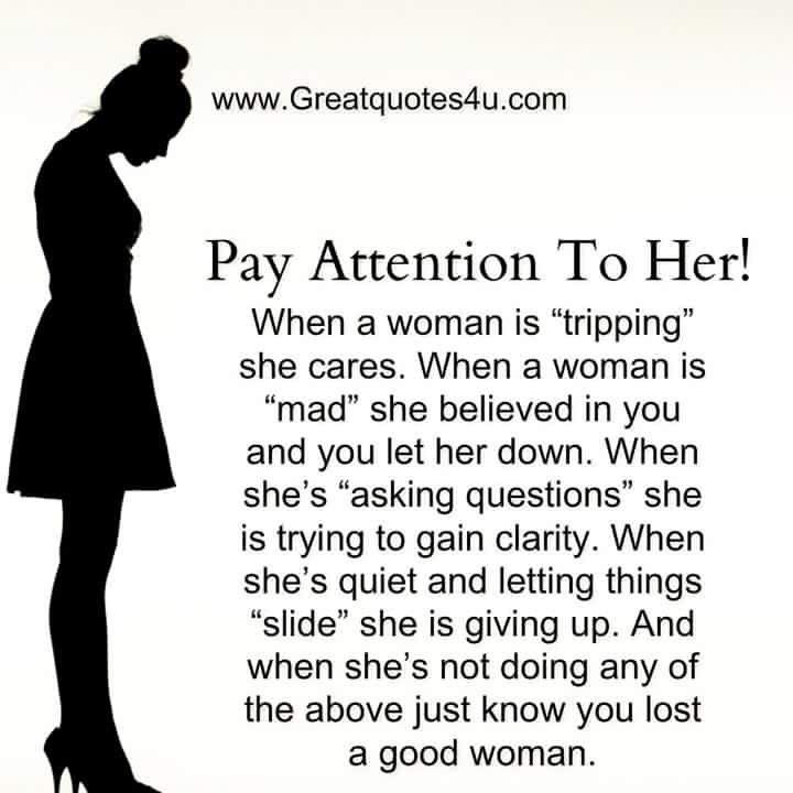What does this mean when more than 5 women are paying attention to you?