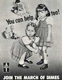March of Dimes ad for polio.