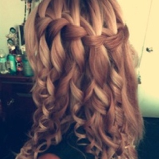 #curly #waterfall braid