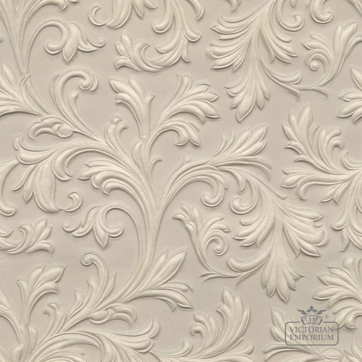 Buy Lincrusta Wallpaper - VE1960, Anaglypta and Lincrusta Wallpaper - 1 roll of Lincrusta paper incorporating pretty leaf design