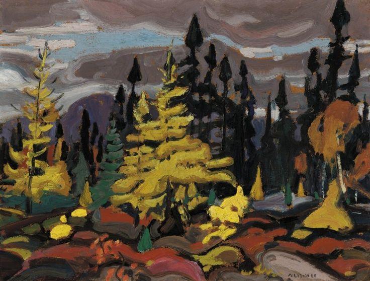 Arthur Lismer - Lake Superior 12.3 x 16.2 Oil on panel (1927)