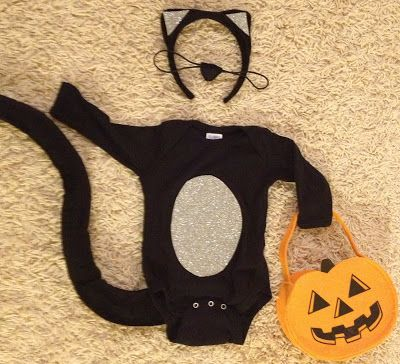 DIY baby kitty cat costume
