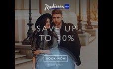 RADISSON BLU - WEEKEND WONDERFUL IN 2017- SAVE UP TO 30%