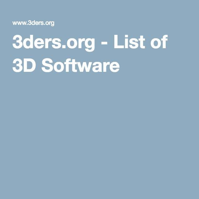 3ders.org - List of 3D Software