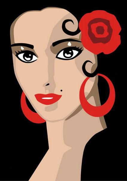 T-shirt Flamenco face