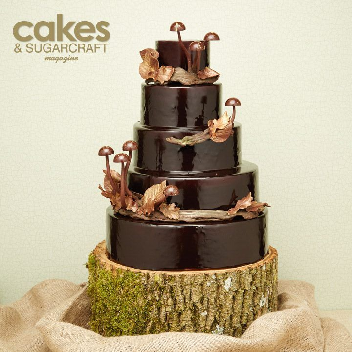 Chocolate Woodland Wedding Cake Tutorial By Mark Tilling For The Autumn 2014 Issue Of Cakes