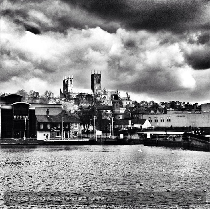 Week 8 - Picture of the Week - Black and White Brayford City by @Zoe Homes (Twitter)