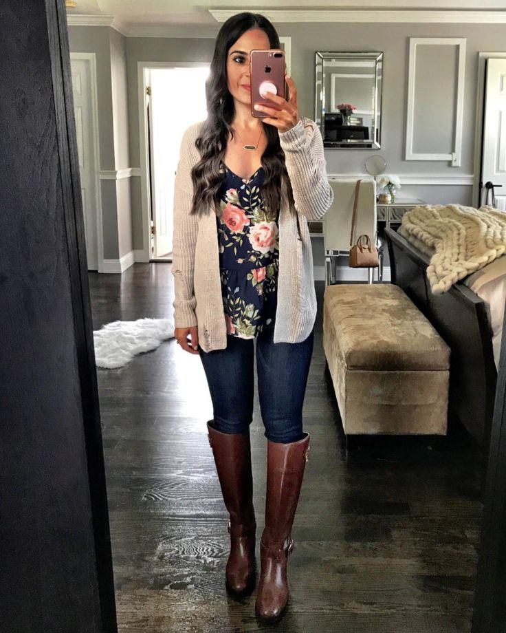 Casual teacher outfit | Cute early fall looks