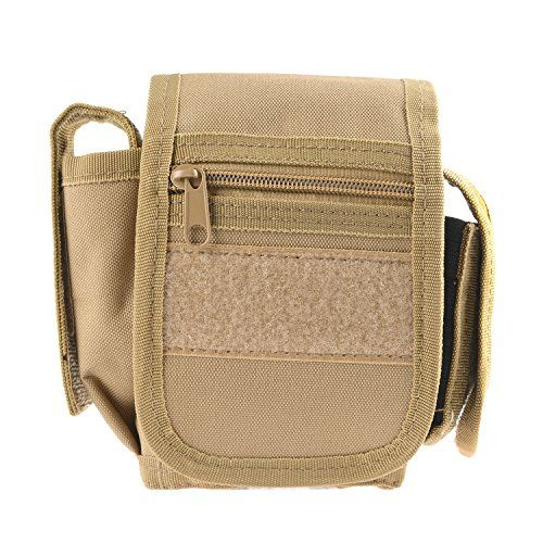 Utility Pouch - Compact Water-resistant Multi-purpose EDC Gadget Gear Tools Organizer - Waist Bags Pack Cell Phone Holster (TAN)