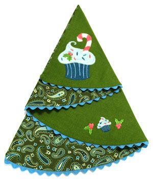 Christmas Tree Napkin Tutorial  CHRISTMAS  Pinterest
