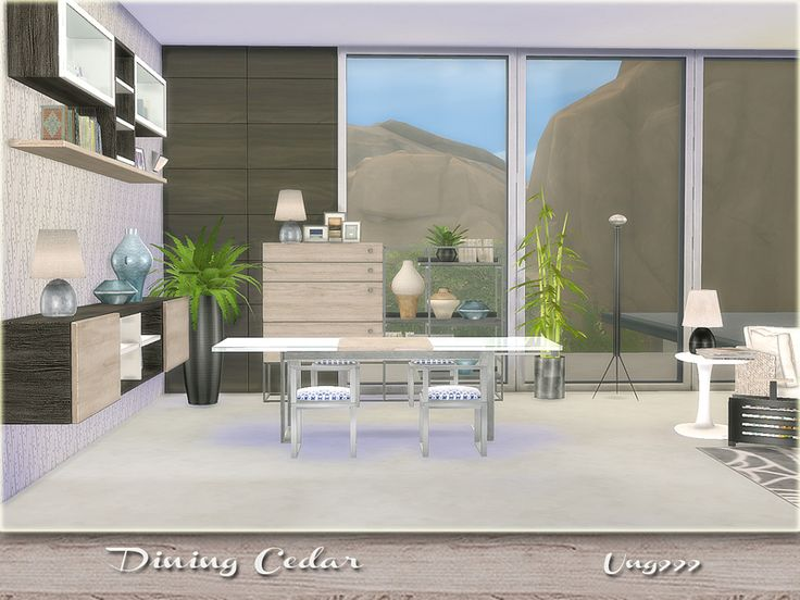 A Modern Dining Set Comes With 15 Items: Found In TSR Category U0027Sims 4