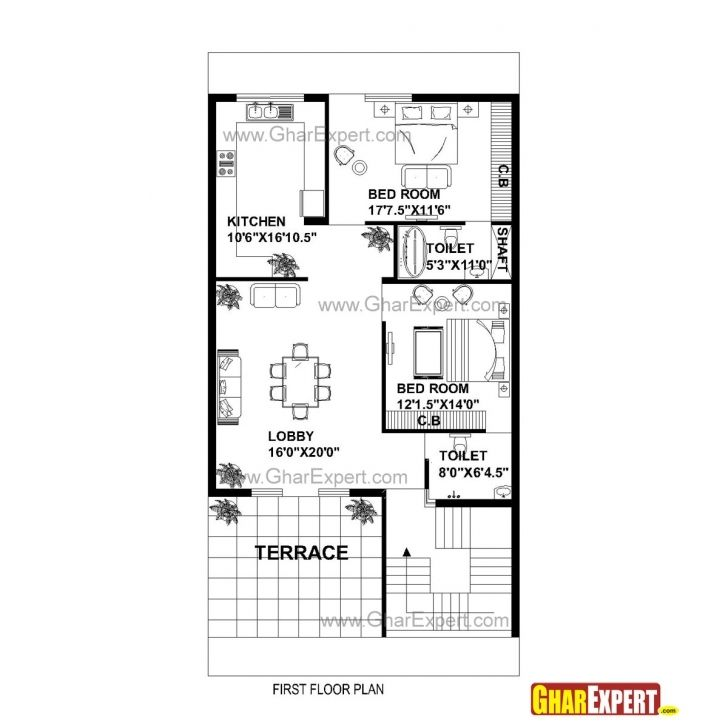 Marvelous House Plan For 15 Feet By 30 Feet Plot Fresh Extremely Creative 30 24 60 Feet House Planes Pic House In 2020 House Floor Plans Square House Plans House Map