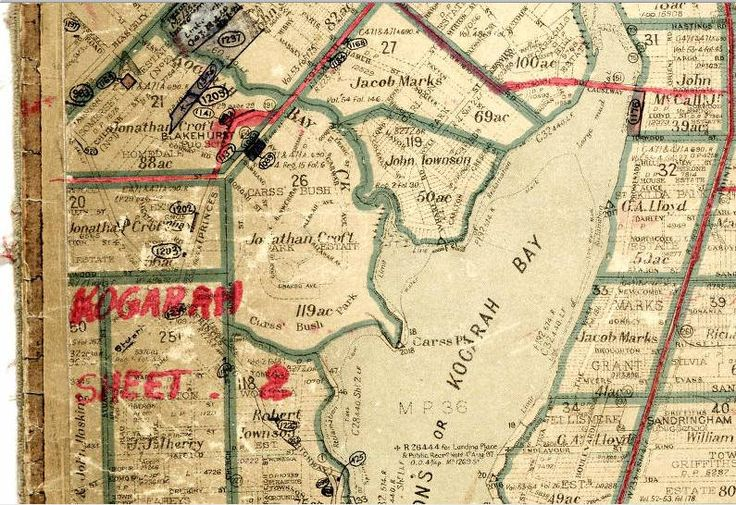 1901 parish map of St George Parish, Cumberland County, showing the Carss Bush Park Estate, later the suburb of Carss Park (Courtesy of Land and Property Information)