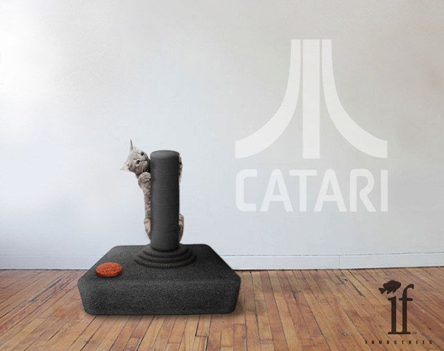 Conceptual video game themed cat scratchers