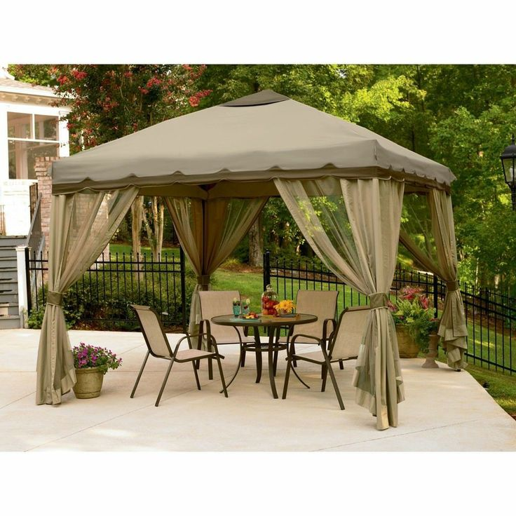 Awesome 10 X 10 Essential Garden Oasis Pop Up Gazebo Tent Outdoor Portable Patio  Canopy