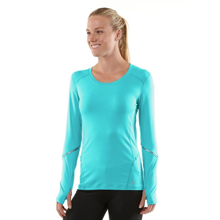 Get extra arm coverage while keepin cool and looking hot in the Womens Road Runner Sports Runners High Long Sleeve top